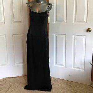 Dresses & Skirts - 100% Liquid Silk Cocktail Slip Maxi with Back Slit